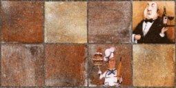 Плитка для стен Нефрит-керамика Лофт 00-00-1-08-11-15-743 Коричневая 40x20