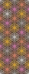Панно Керамин Дария 4 Коричневый 50x20