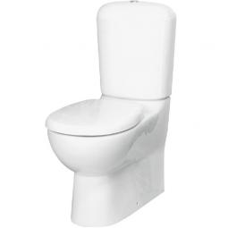 Унитаз -компакт Керамин Женева универсальный выпуск жесткое сиденье белый