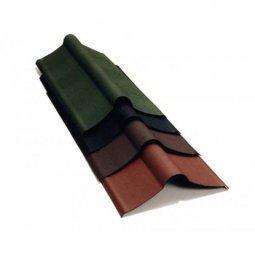 Коньковый элемент Ондулин зеленый длина - 1м, полезная длина 0,85 м