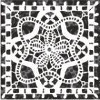 Бордюр Керамин Органза 5 Чёрный 9,8x9,8