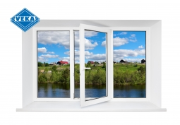 Окно ПВХ Veka 2100х1400 мм стерео ЛГ/ЦПО/ПГ 3 стеклопакет