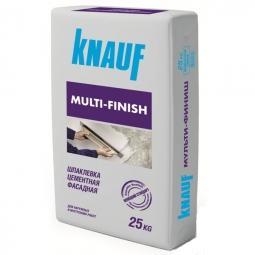 Шпатлевка Knauf Мультифиниш фасадная цементная 25 кг