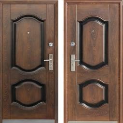 Металлическая дверь 550, Китай, 860*2050, орех