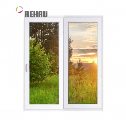 Окно раздвижное Rehau 2100x2000 двухстворчатое ЛР1000/ПГ1000 1 стекло