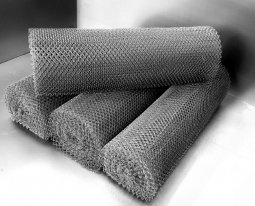 Сетка рабица d=1,6 мм, ячейка 50x50 мм, 1500x1000 мм, оцинкованная
