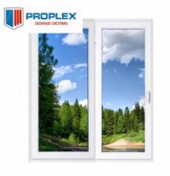 Окно раздвижное PROPLEX 2100x2000 двухстворчатое ПР800/ЛГ1200 1 стекло