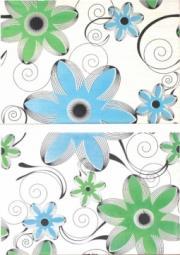 Декор ВКЗ Азалия D universal панно (2 шт.) голубая 20x30