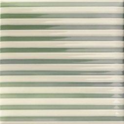 Декор Mainzu Lucciola Decor Stripe Green Зеленый 20х20