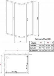Душевая кабина Radaway Premium Plus фабрик 80х80х190