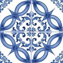 Плитка для стен Сокол Катарина KR3 орнамент полуматовая 22х22