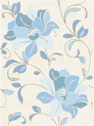 Декор Cersanit Ricamo RM2M041 голубой 25х35