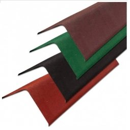 Щипцовый профиль Ондулин зеленый длина - 1м, полезная длина 0,85 м