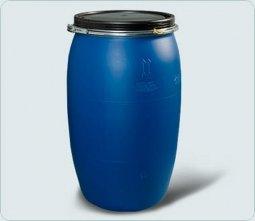 Бочка Тара пластиковая с крышкой на обруч 127 литров