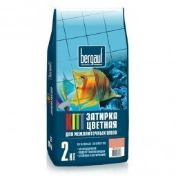 Затирка Bergauf Kitt на цементной основе для швов до 5 мм серебристо-серая (2кг)