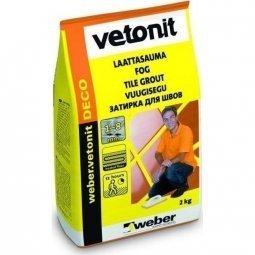 Затирка Weber.Vetonit Deco для швов до 8 мм черный №19 (2кг)
