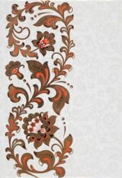 Вставка Уралкерамика Хохлома ВС7ХМ008 24,9x36,4