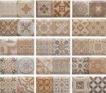 Плитка для стен Monopole Ceramica Antique Marron белый 10х20