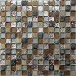 Мозаика Bonаparte Fantasy коричневая глянцевая 30.6х30.6