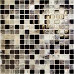 Мозаика Elada Pearl на сетке MPSA225 перламутр черно-серый 32.7x32.7