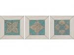 Декор Kerama Marazzi Меранти ID57 13х13 белый мозаичный