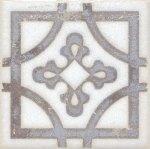 Вставка Kerama Marazzi Амальфи STG\A406\1266 9,9х9,9 орнамент коричневый