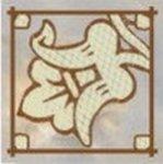 Декор Керамин Флоренция 1 серый 9.8х9.8