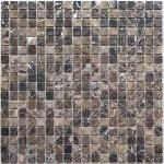 Мозаика BonаparteFerato-15 slim (Matt) коричневая состаренная 30.5x30.5