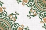 Декор Пиастрелла Галатея Камерли зеленый 20х30