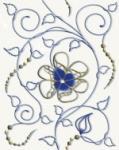 Декор Cersanit Gzhel GZ2B051 Синий 20X25