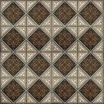 Плитка для пола Сокол Баден-Баден BDR6 орнамент полуматовая 44х44