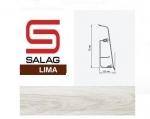 Плинтус Salag LI00G9 Гумпи Белый 72