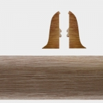 Заглушка левая и правая Т-Пласт 106 Дуб Пиреней 58мм (2шт)