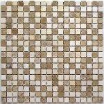 Мозаика Bonаparte Sevilla-15 slim (POL) коричневая полированная 30.5x30.5