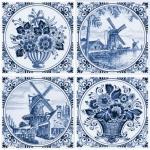 Декор Нефрит-керамика Акварель 04-03-1-14-03-61-136-2 20x20 Синий