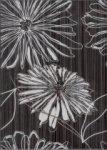 Декор Береза-керамика Ретро цветок черный 2 25х35